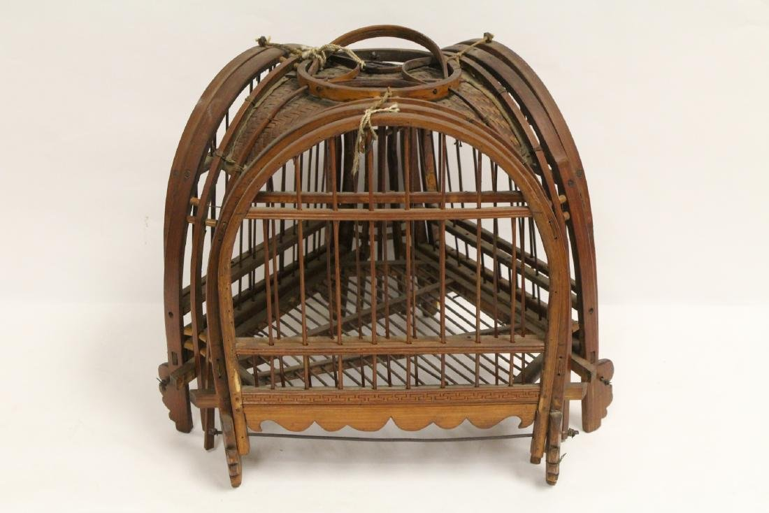 A very unusual Chinese antique bird cage - 5