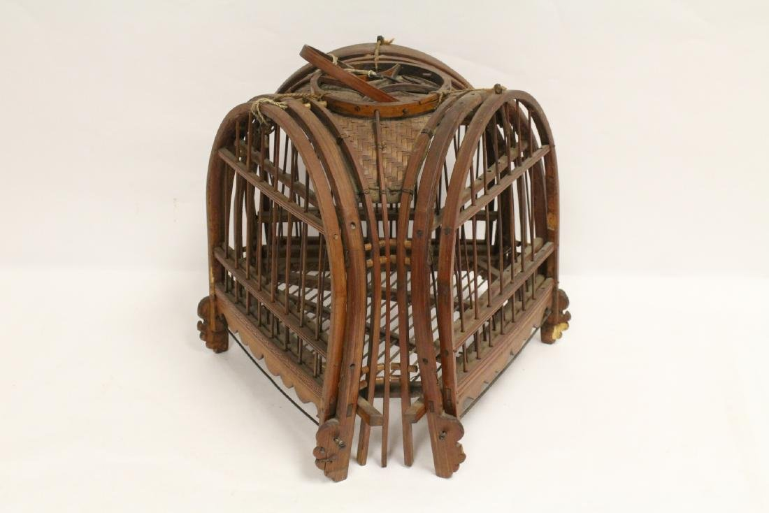 A very unusual Chinese antique bird cage - 6