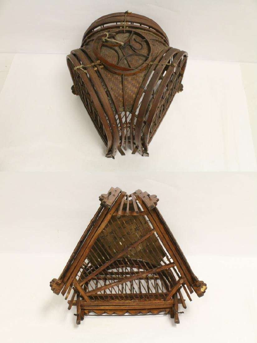 A very unusual Chinese antique bird cage - 7