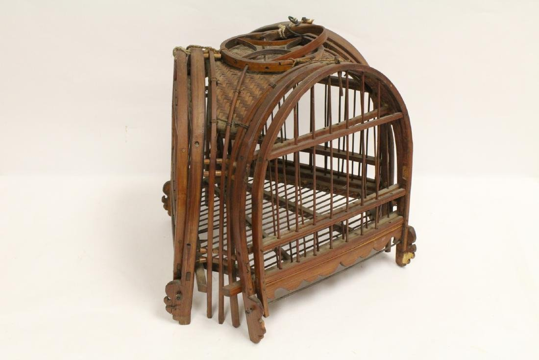 A very unusual Chinese antique bird cage - 8