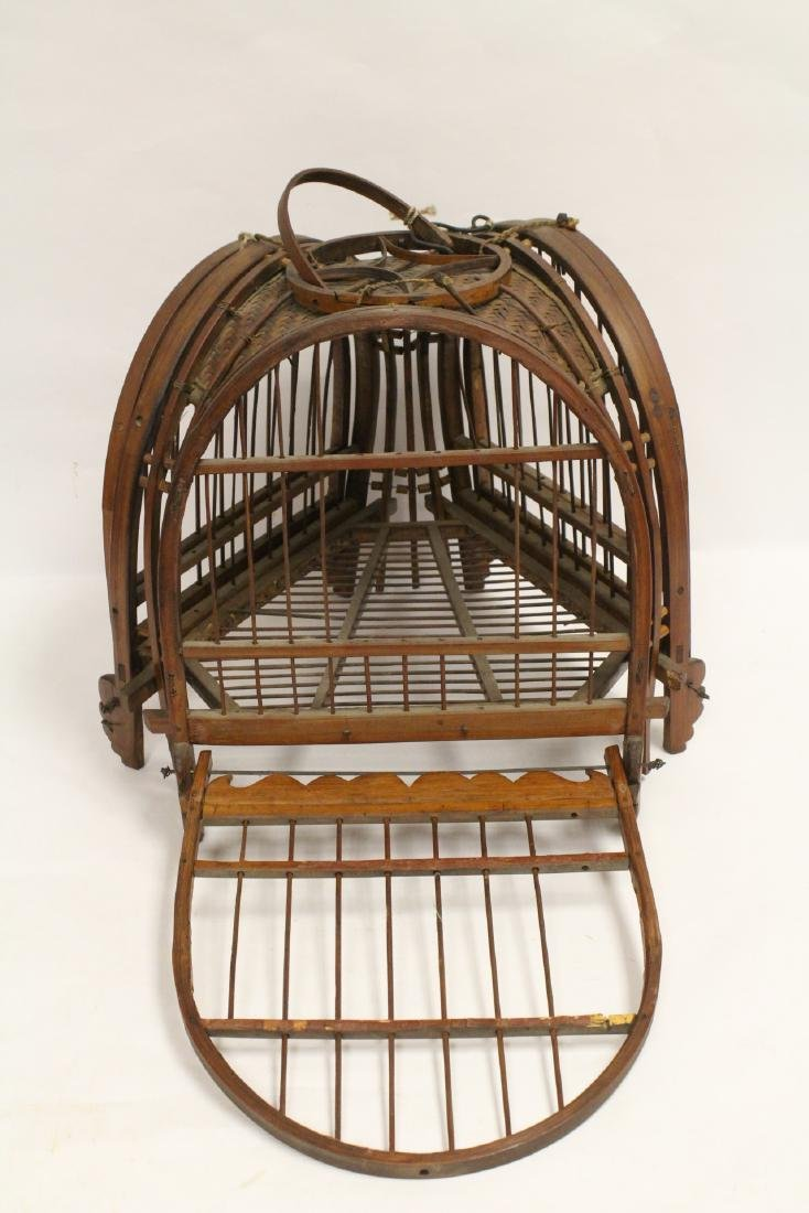 A very unusual Chinese antique bird cage - 9