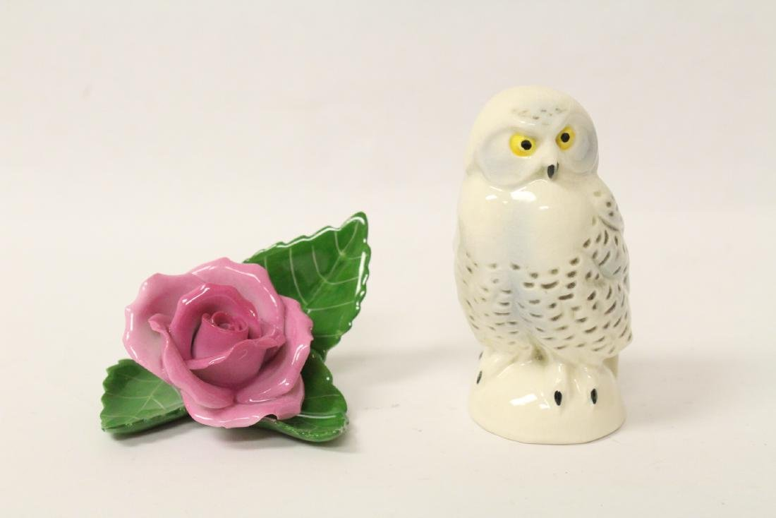 Goebel owl and Herend flower