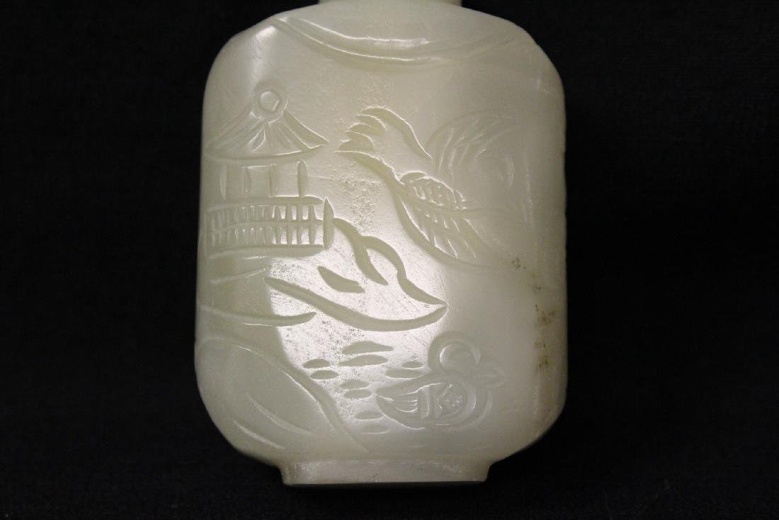 Chinese white jade snuff bottle - 6