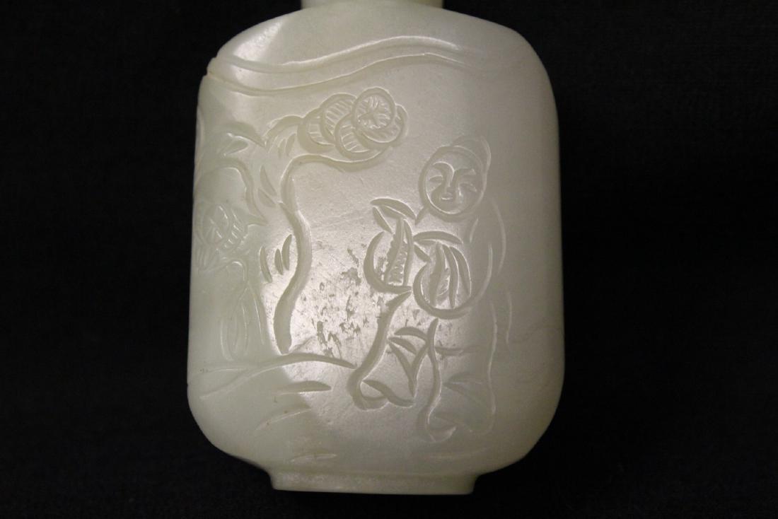 Chinese white jade snuff bottle - 7
