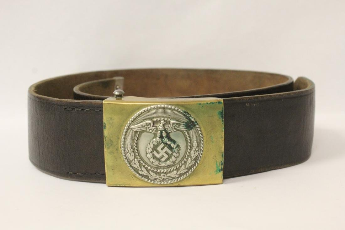 WWII Germany leather belt and a German book - 2