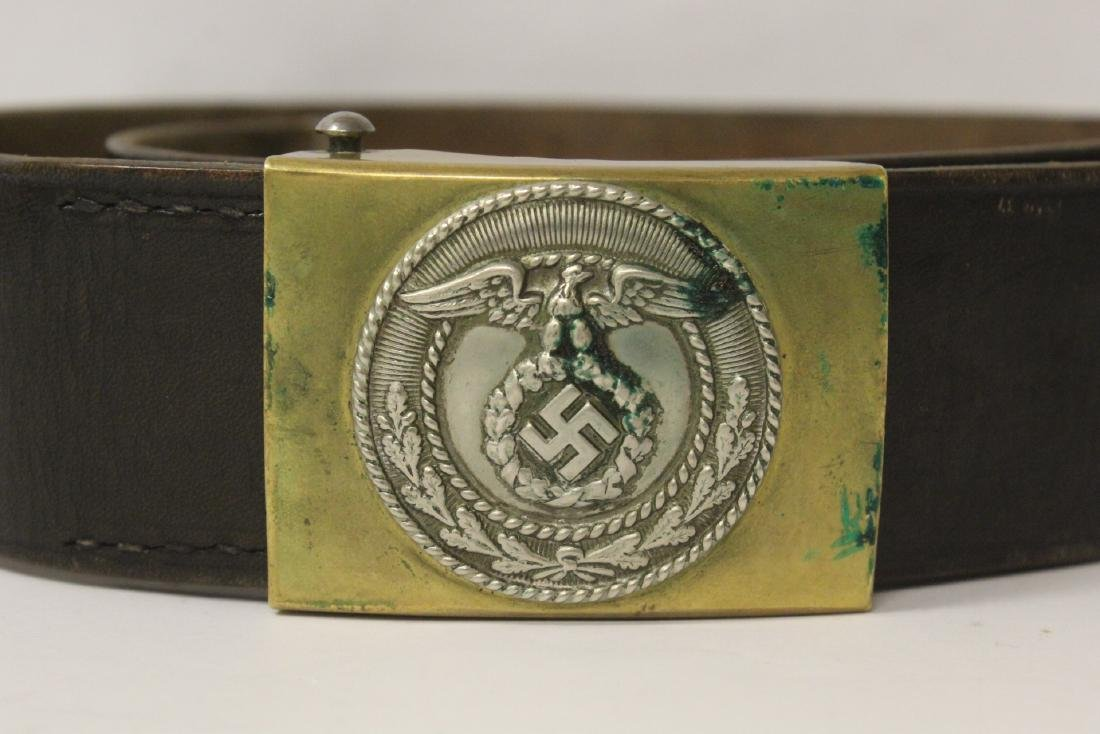 WWII Germany leather belt and a German book - 3