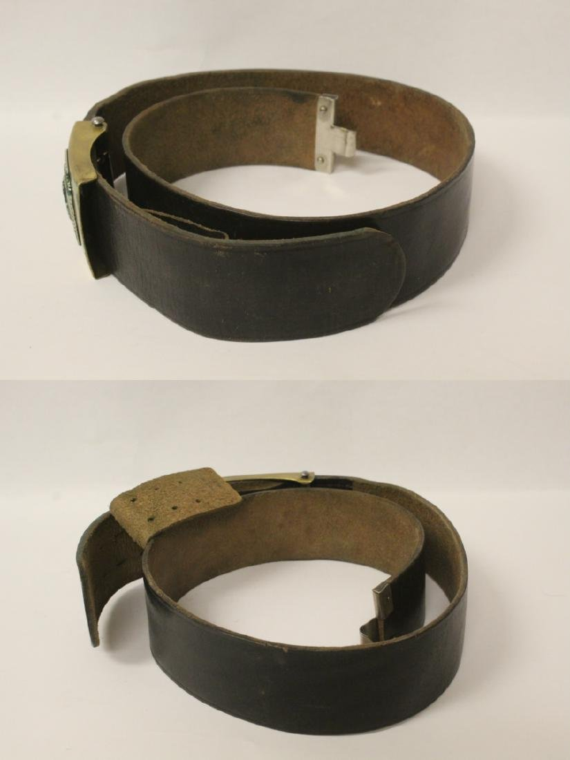 WWII Germany leather belt and a German book - 4