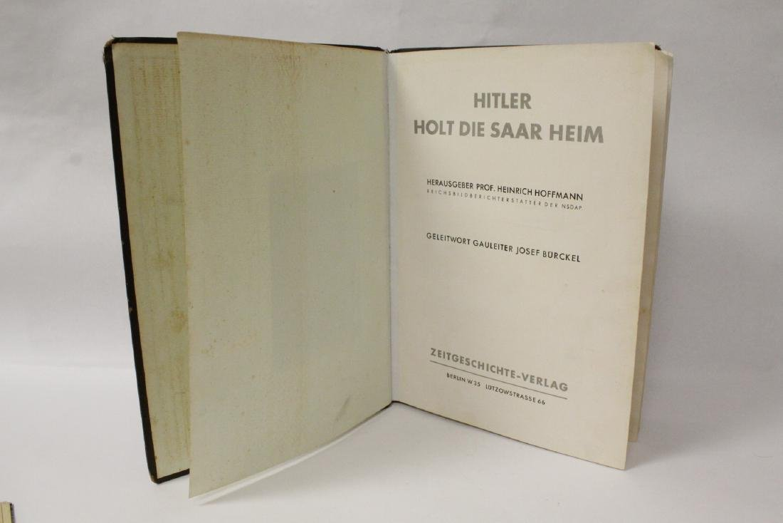 WWII Germany leather belt and a German book - 6