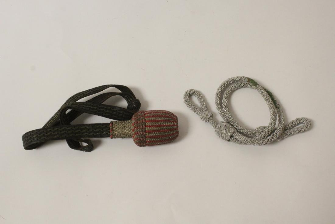 WWII Germany utensil set, a cuff, and 2 tassels - 8