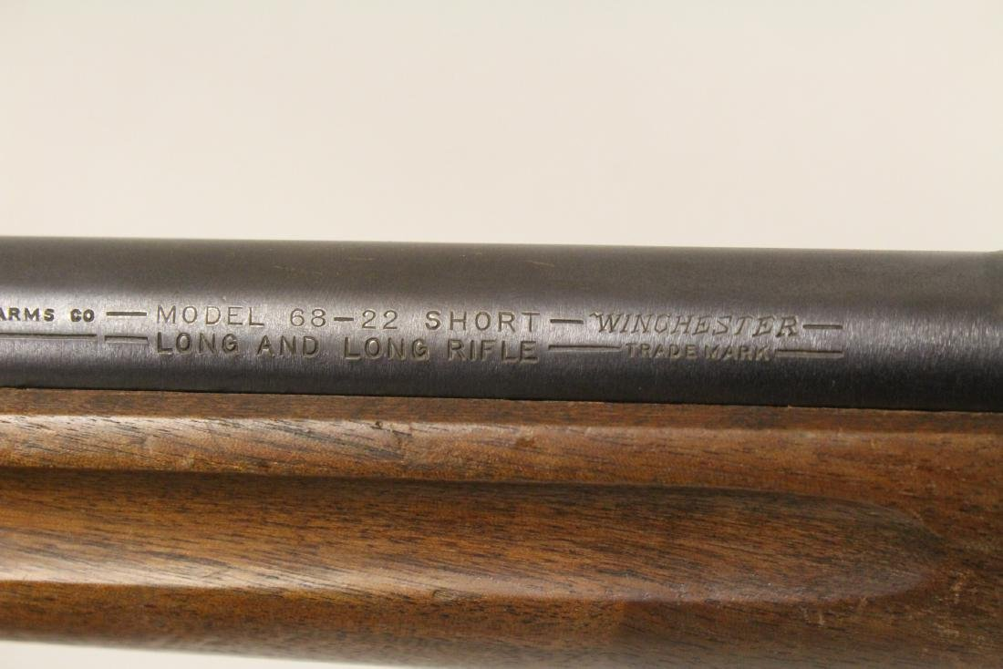 Antique Winchester rifle model 68-22 short - 10