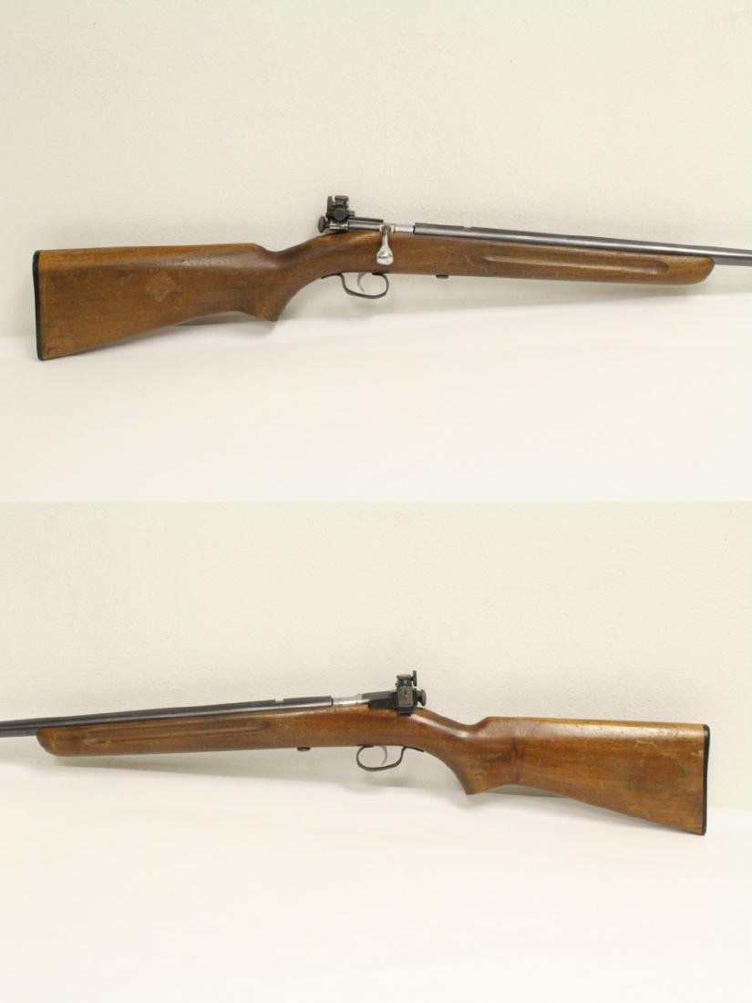 Antique Winchester rifle model 68-22 short - 3