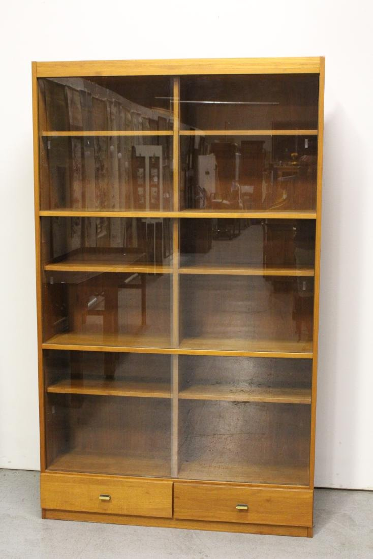 A rare Danish modern teak wood bookcase