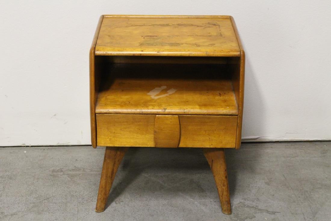 50's blonde wood side table by Haywood Wakefield