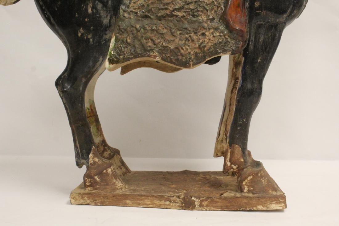 Large Chinese sancai style pottery horse - 8