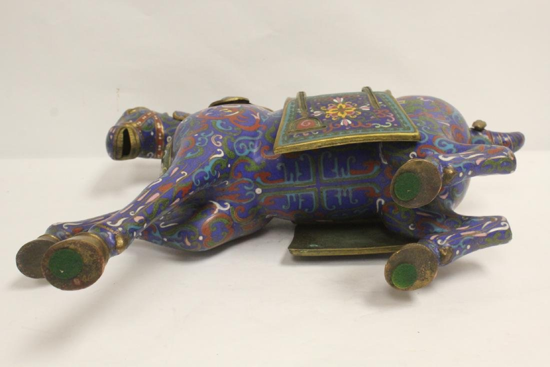Vintage Chinese cloisonne horse - 10