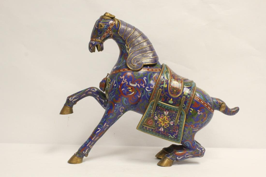 Vintage Chinese cloisonne horse