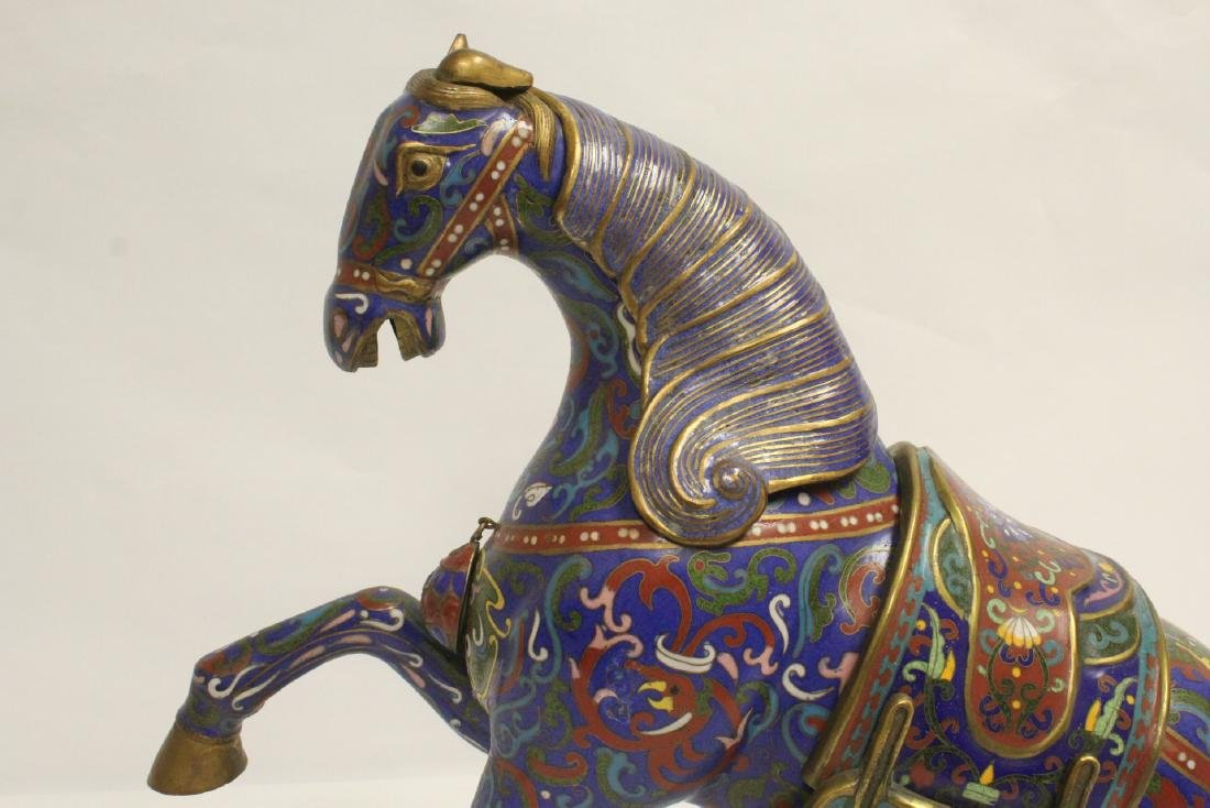 Vintage Chinese cloisonne horse - 6