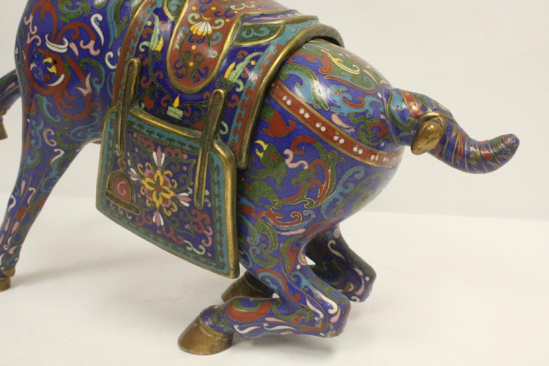 Vintage Chinese cloisonne horse - 7