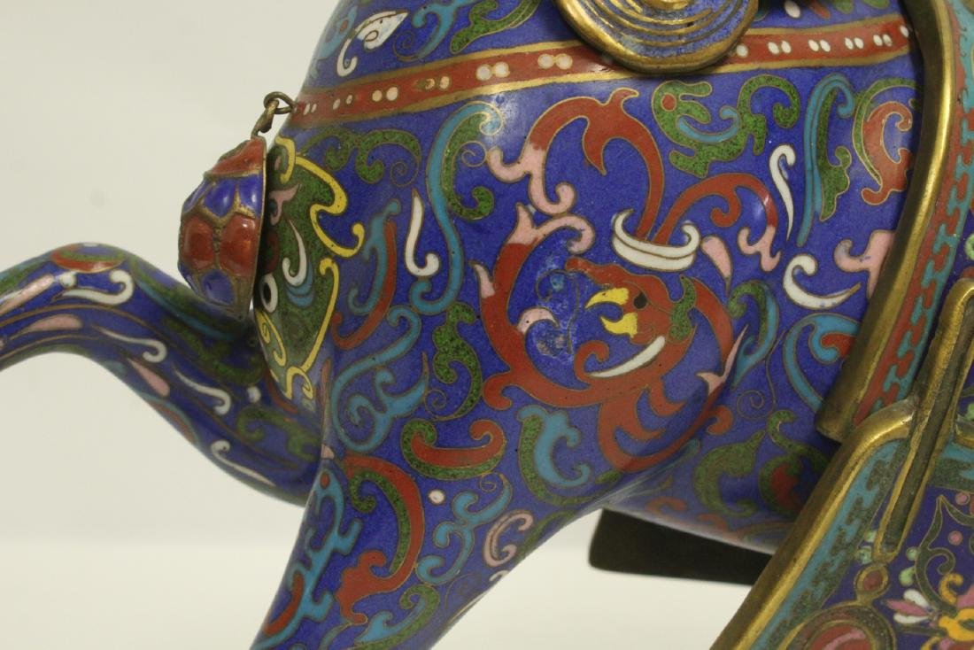 Vintage Chinese cloisonne horse - 8