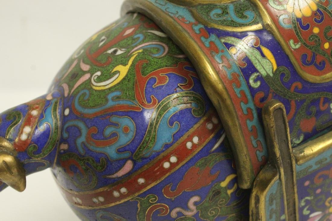 Vintage Chinese cloisonne horse - 9