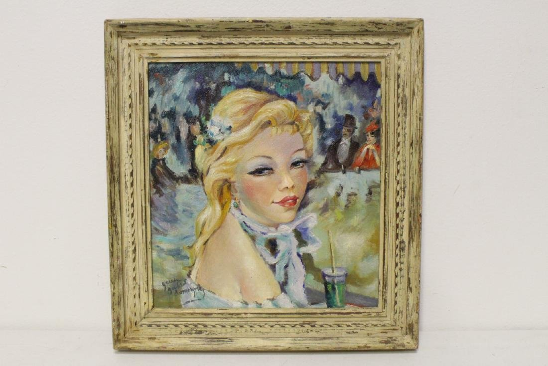 oil on canvas signed Jean Gabriel Domergue