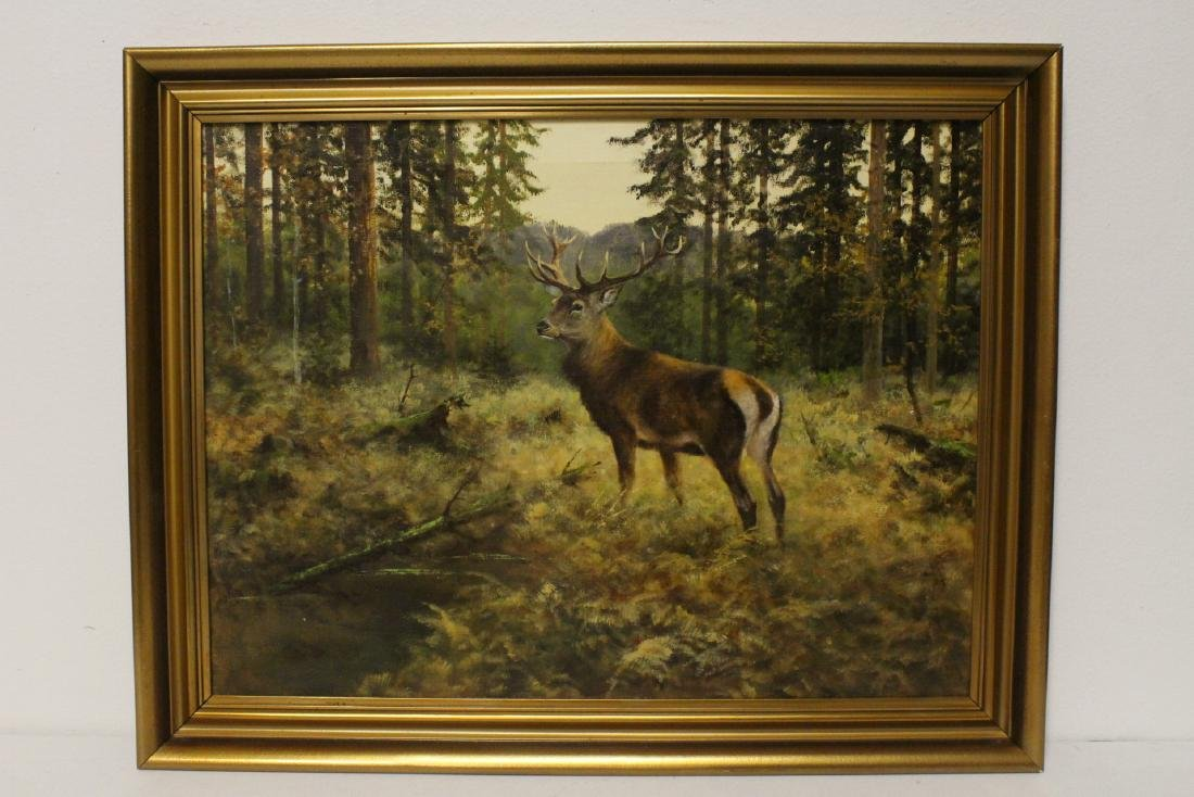 large oil on canvas signed A.F. Tait, dated 1893