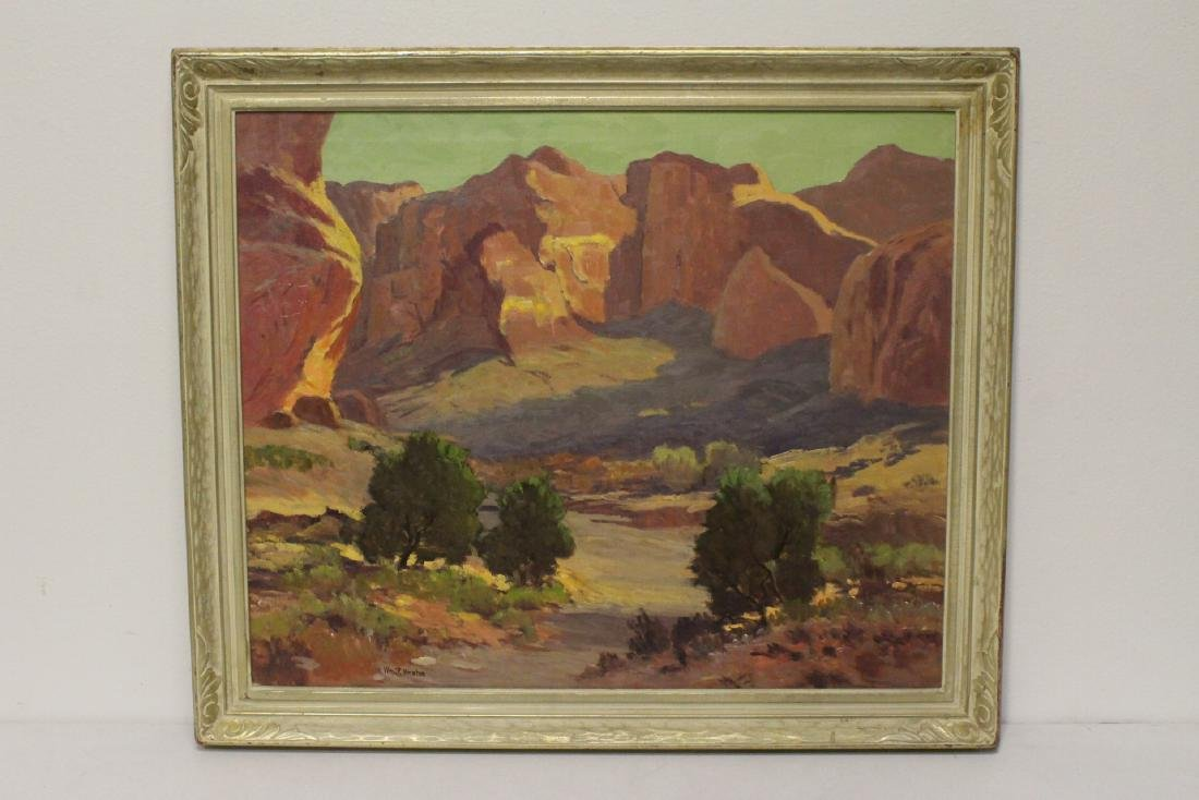 Large oil on canvas by William P. Krehm