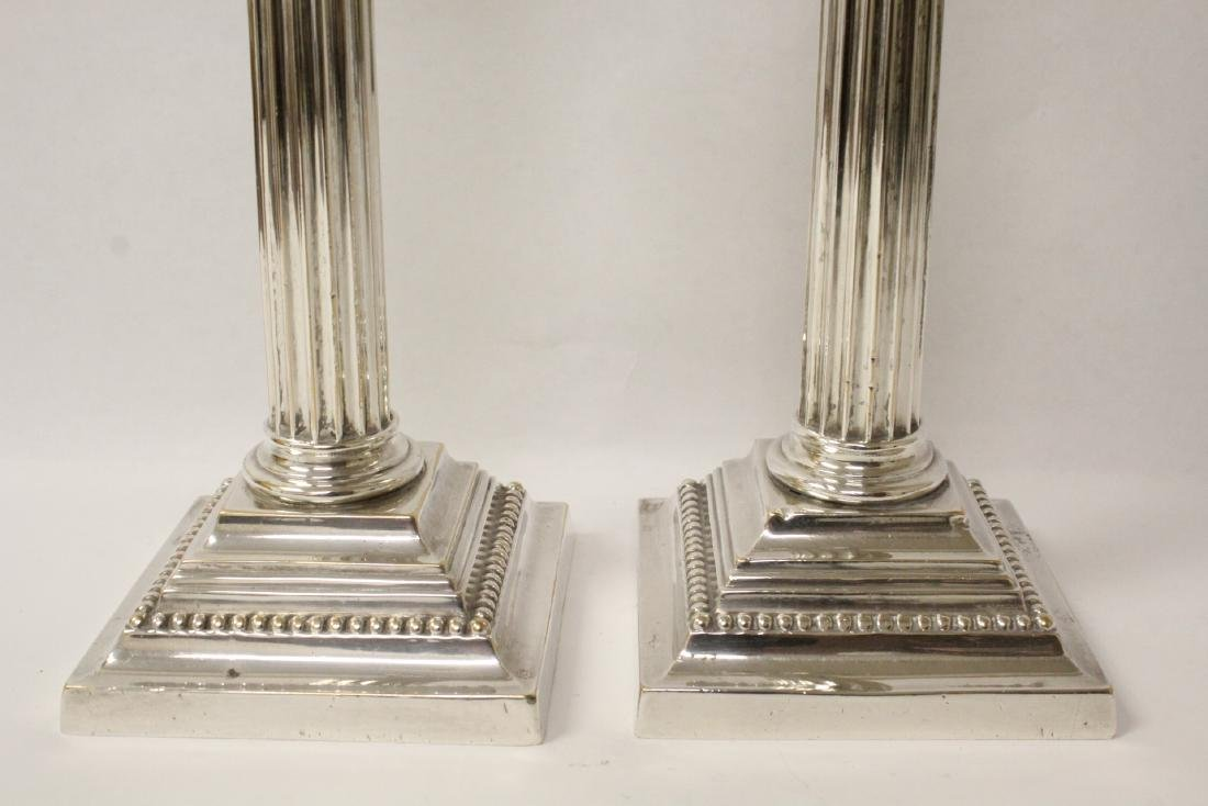 Pair antique Gorham silverplate candle holders - 3