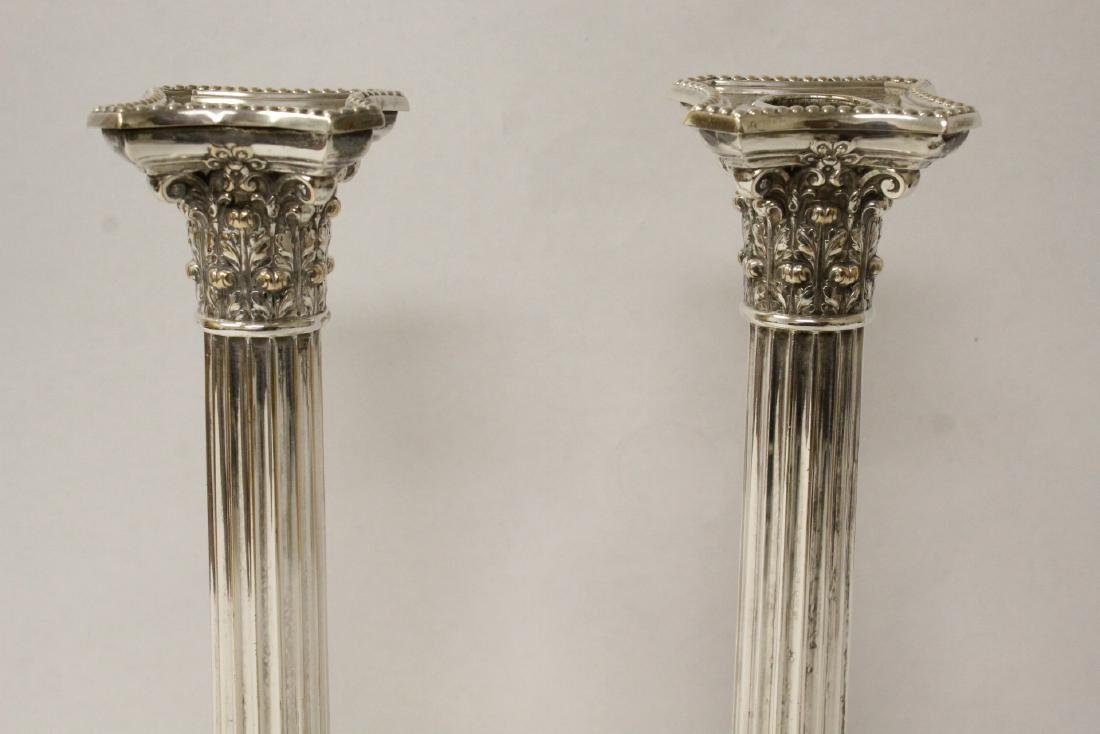 Pair antique Gorham silverplate candle holders - 4