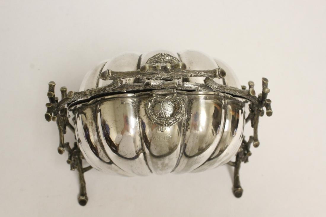 A very fancy Victorian silverplate toast warmer - 4