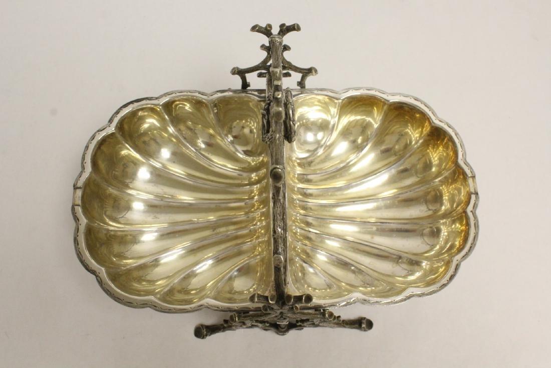 A very fancy Victorian silverplate toast warmer - 5