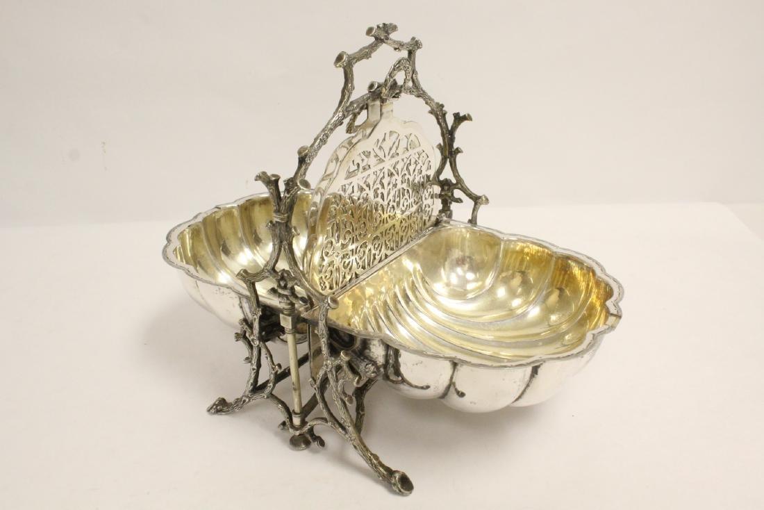 A very fancy Victorian silverplate toast warmer - 6