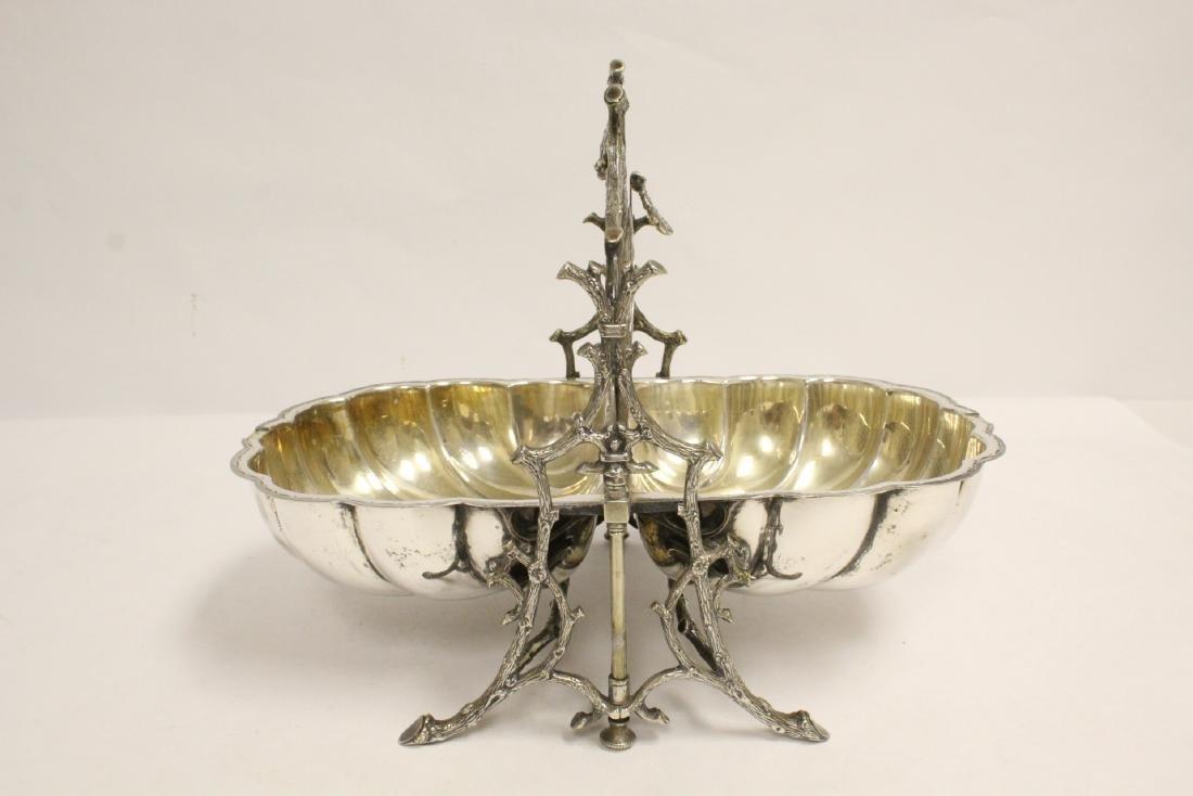 A very fancy Victorian silverplate toast warmer - 7