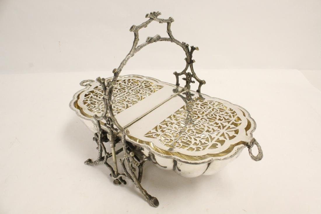 A very fancy Victorian silverplate toast warmer - 8