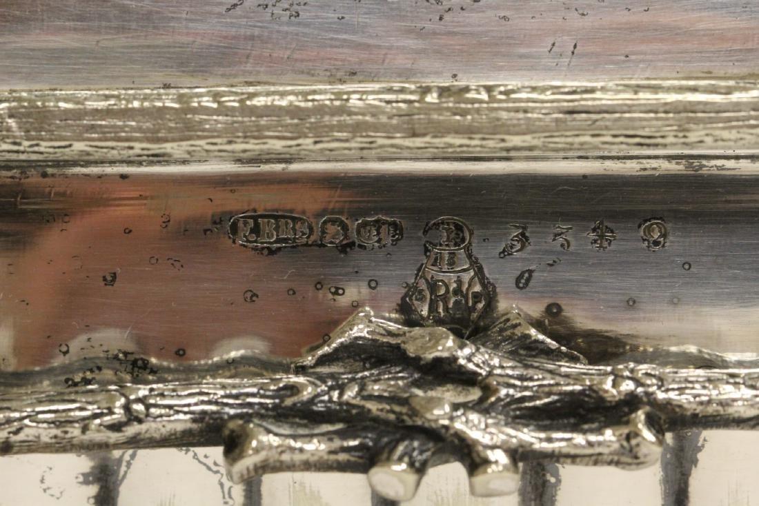 A very fancy Victorian silverplate toast warmer - 9