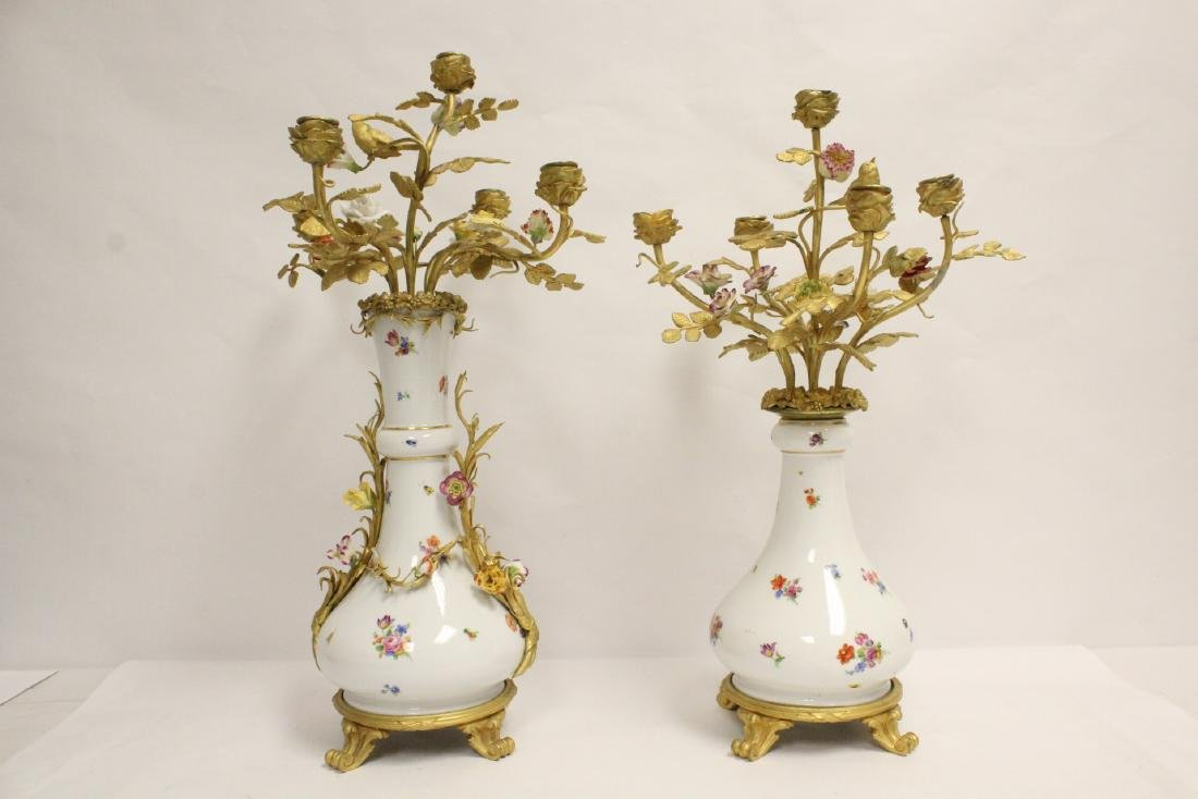 Pair antique porcelain vase by Meissen