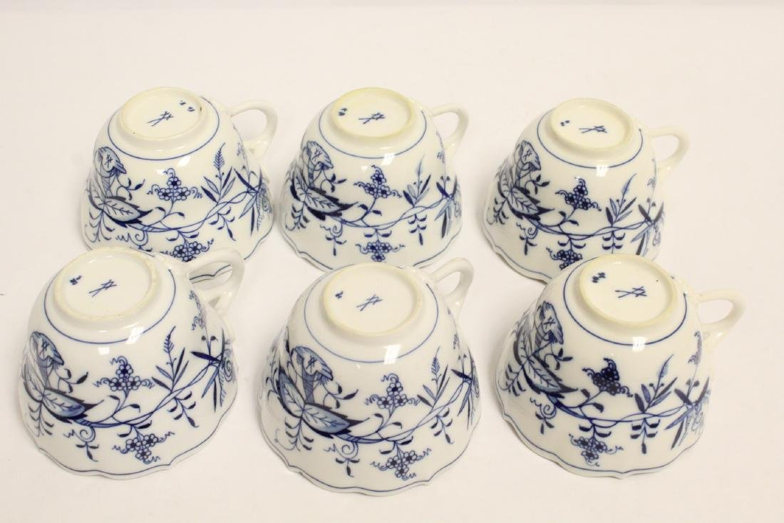 Set of blue and white tea set by Meissen - 10