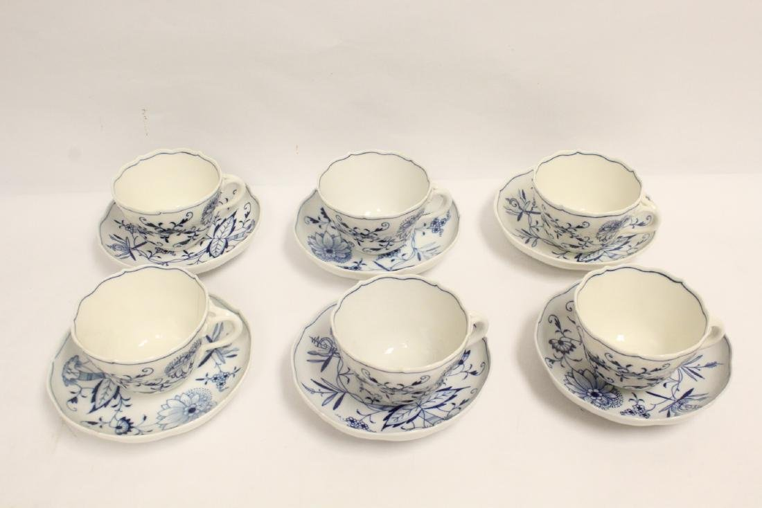 Set of blue and white tea set by Meissen