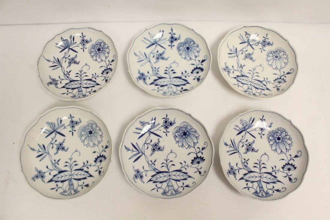 Set of blue and white tea set by Meissen - 2