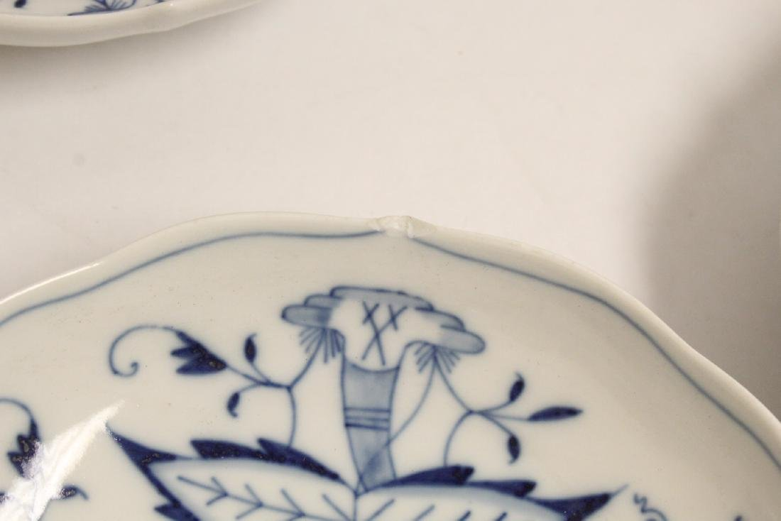 Set of blue and white tea set by Meissen - 3
