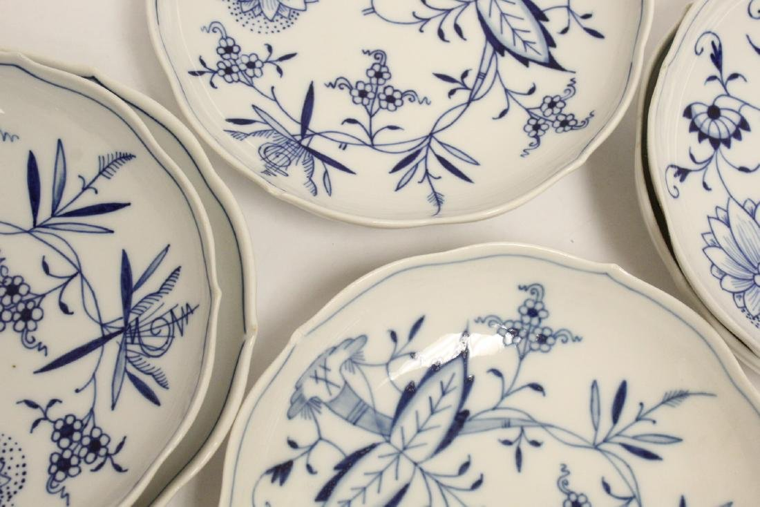 Set of blue and white tea set by Meissen - 5