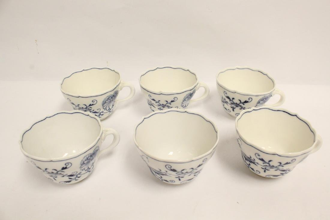 Set of blue and white tea set by Meissen - 6