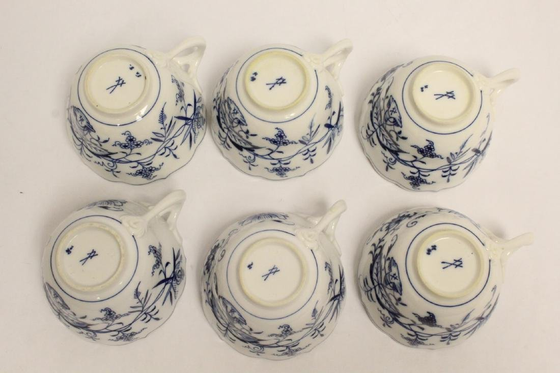 Set of blue and white tea set by Meissen - 9