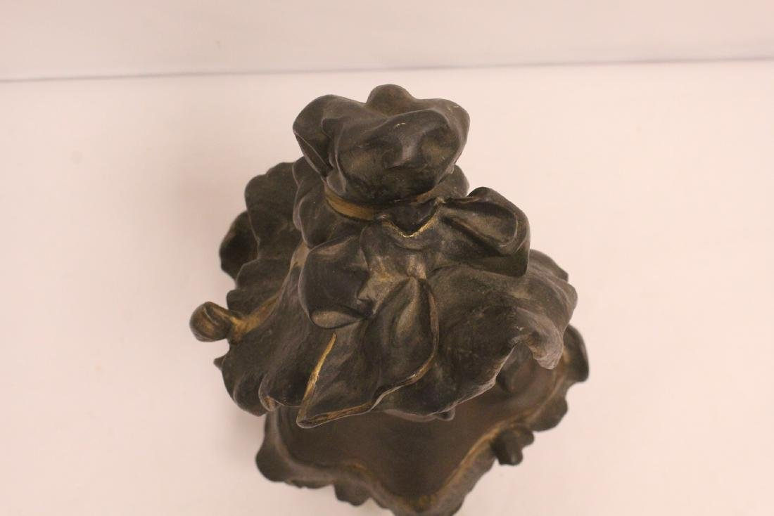 Bronze sculpture of lady's bust - 6