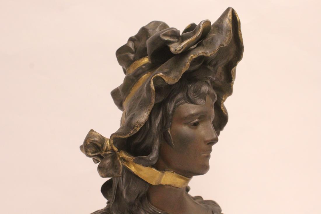 Bronze sculpture of lady's bust - 7