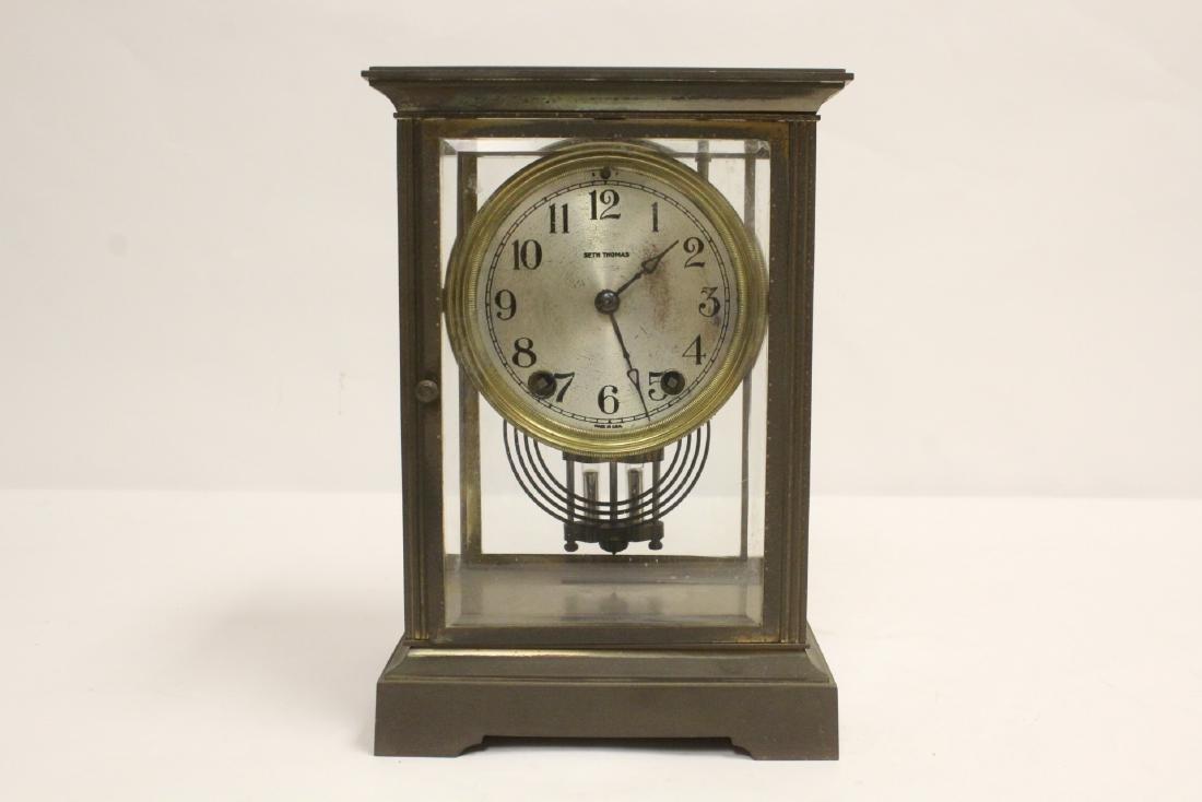 Seth Thomas shelf clock with mercury pendulum