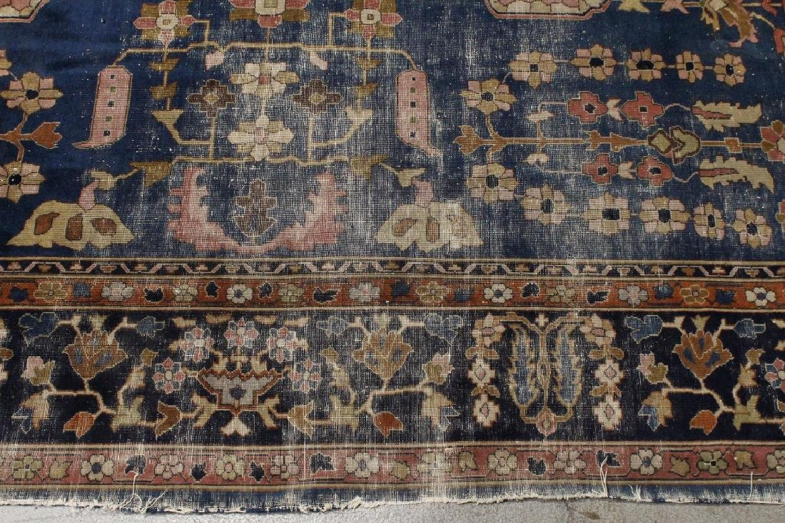Antique room size Persian rug - 4