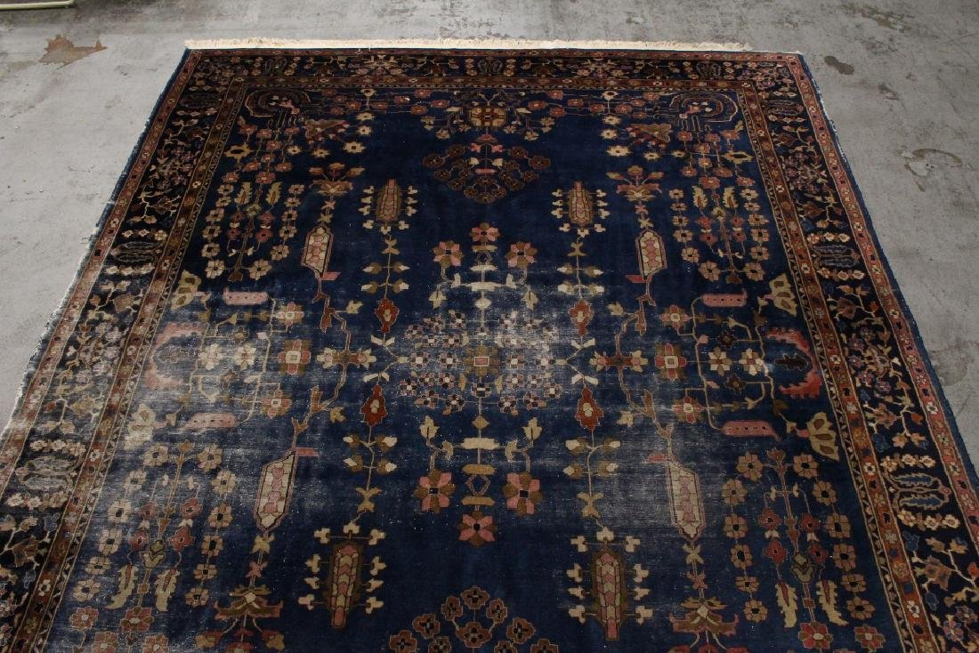 Antique room size Persian rug - 5