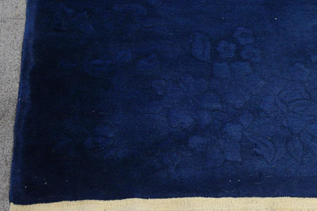 Chinese blue background Nichols rug - 4