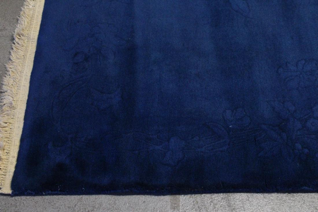 Chinese blue background Nichols rug - 5